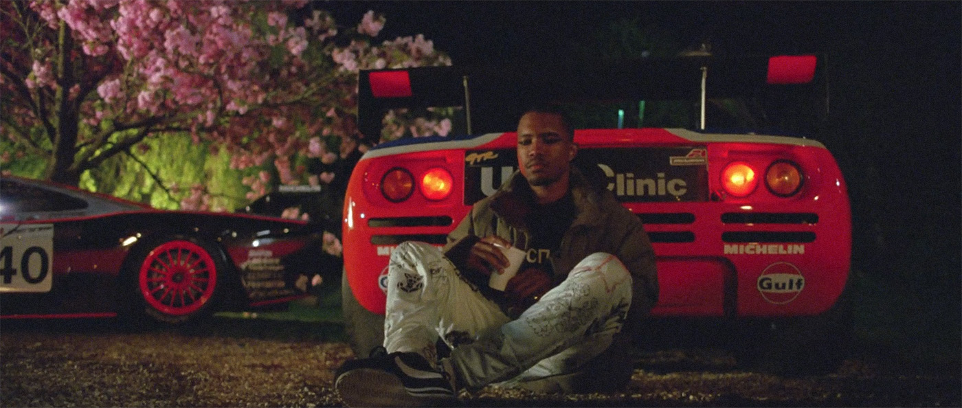 Frank Ocean in Nikes music video with McLaren F1