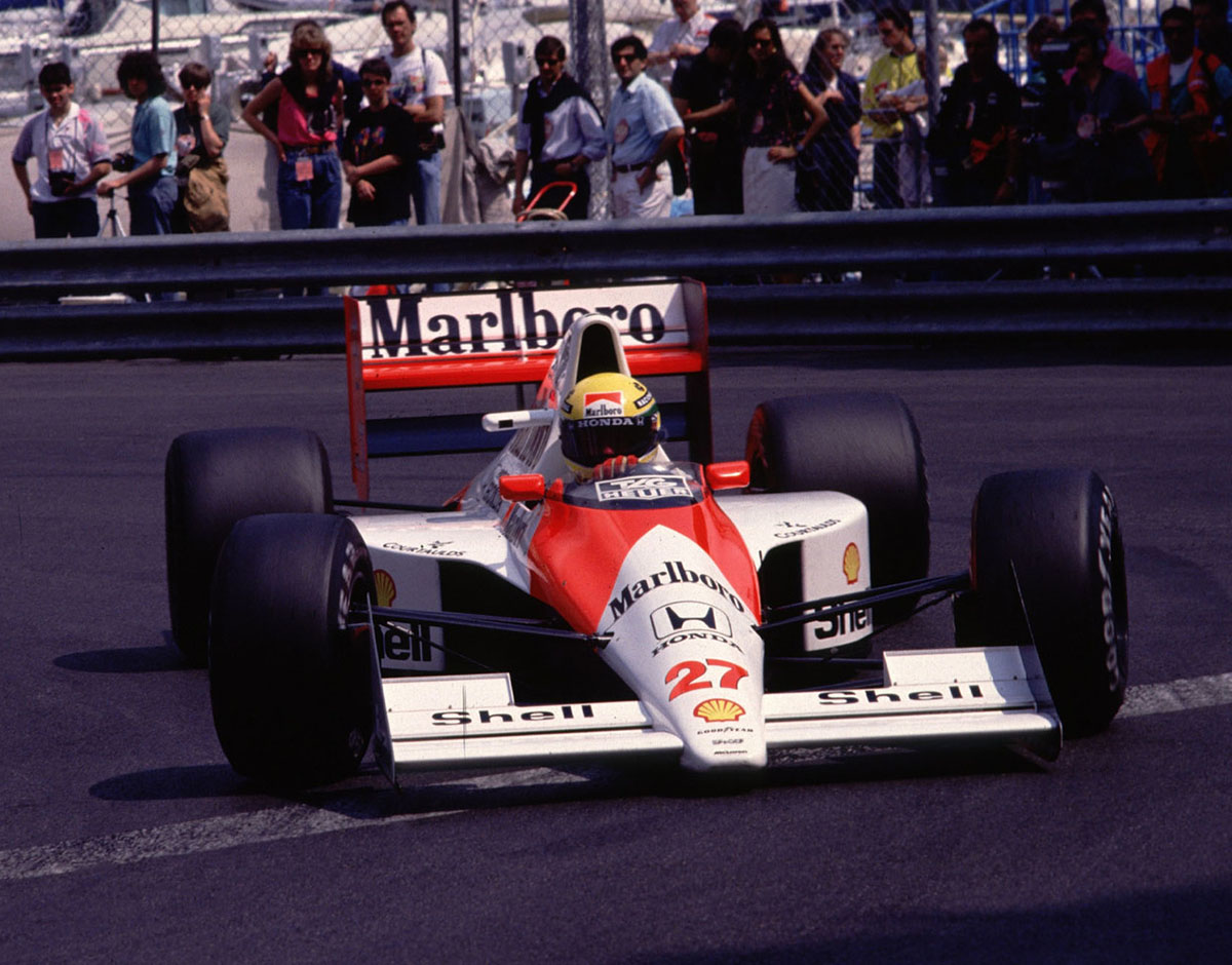 The iconic Marlboro livery used in Formula 1, Rally and other racing series.